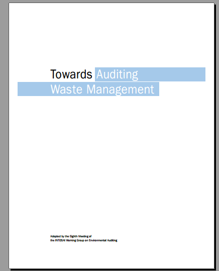 Towards Auditing Waste Management